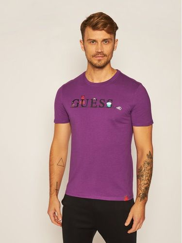 Guess T-Shirt Monster M0YI48 I3Z00 Fioletowy Slim Fit 99.00PLN