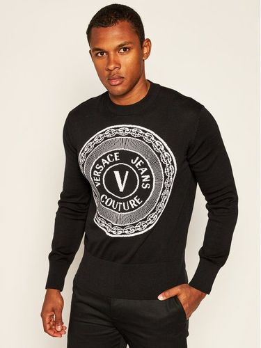 Versace Jeans Couture Sweter B5GZA813 Czarny Regular Fit 619.00PLN