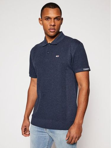 Tommy Jeans Polo Heritage Mini Waffle DM0DM10587 Granatowy Relaxed Fit 299.00PLN