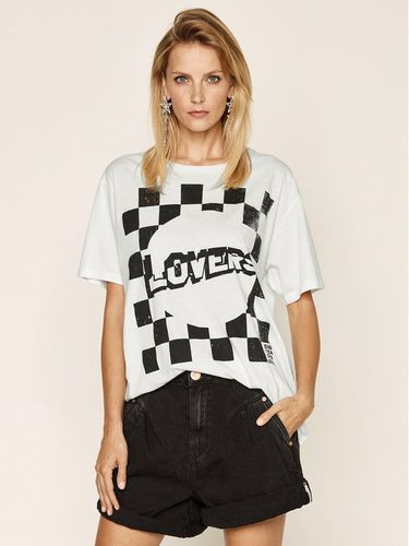 One Teaspoon T-Shirt Lovers Bf Tee 23534A Biały Relaxed Fit 159.00PLN