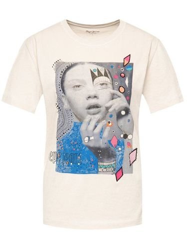 Pepe Jeans T-Shirt Marion PL504253 Beżowy Regular Fit 99.00PLN