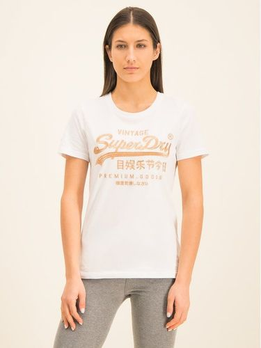 Superdry T-Shirt Premium Goods Luxe Emb Entry Tee W1000067A Biały Classic Fit 109.00PLN