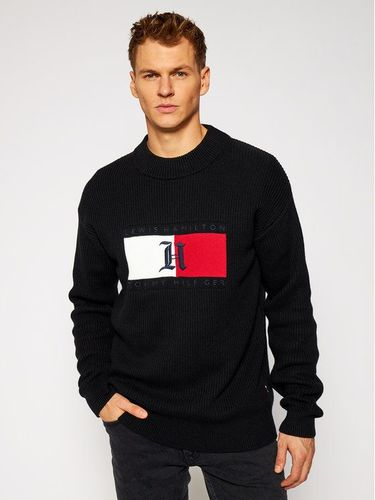 Tommy Hilfiger Sweter LEWIS HAMILTON Box Aw Ribbed MW0MW15353 Czarny Relaxed Fit 519.00PLN