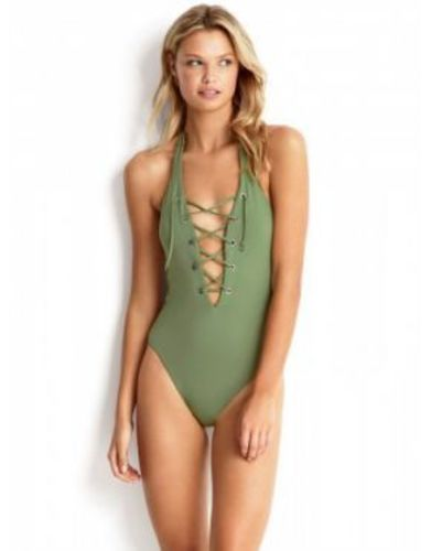 LACE UP HALTER MAILLOT 224.50PLN
